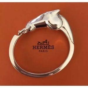 Hermes Au Galop Sterling Silver Horse Bracelet